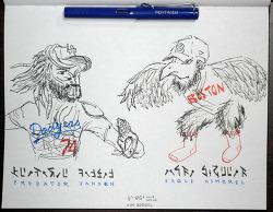 [자작그림] Predator Jansen VS Eagle Kimbrel