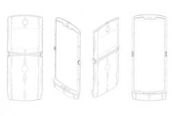 모토로라 - 레이저(RAZR) 브랜드의 접이식 스마트폰 디자인 특허 공개
