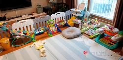 거실용 아기 놀이방매트, LG 아소방 매트 4개월 사용 후기. 장단점 위주