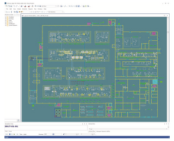 Equipment Layout Improvement for Large-Scale Hot Cell Facility Logistics