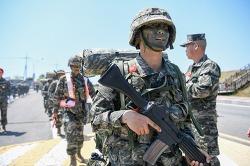 #부사관후보생 377기 극기주 복귀 및 빨간명찰수여