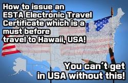 """USA visa """"ESTA"""" issue method"""