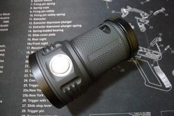 Noctigon M43 Meteor Dark Grey XP-G2 S4 5D 4x18650 Flashlight