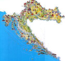 유럽 지도 / 발칸반도 내 크로아티아 지도 자세히 살펴보기 / 크로아티아 여행지도