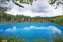 일본 홋카이도 비에이 대표적인 명소 흰수염 폭포와 청의 호수(아오이 이케) / しらひげの滝, 青い池