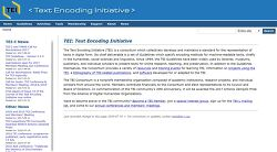 TEI - Text Encoding Initiative - 언어학의 기본 데이터스키마