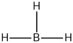 루이스 구조(Lewis structure) 그리기. BH3