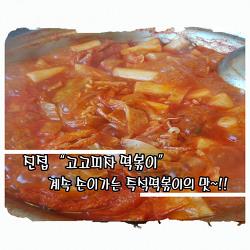 """푸짐한 양, 환상적인 맛의 즉석떡볶이~!!  진접에 있는 """"고고 피자 떡볶이 """""""