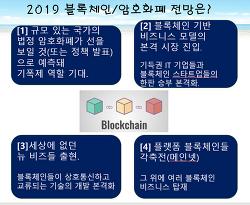 ■2019년 블록체인/암호화폐 전망■