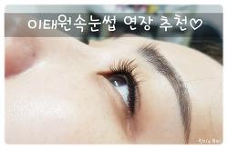 이태원속눈썹 연장 루시아 다크브라운 후기:)