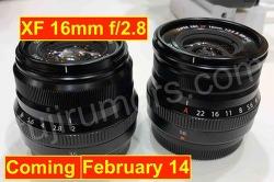 후지필름 XF16mm f2.8과 X-T30 이미지 유출과 발표일