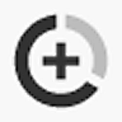 데이터 세이버. 상단 바의 원형 또는 삼각형 아이콘