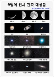 9월의 천체 관측 대상들