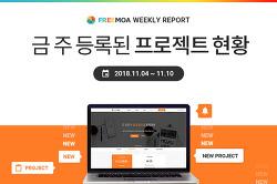 [Weekly Report] 11월2주차 등록된 프로젝트 현황