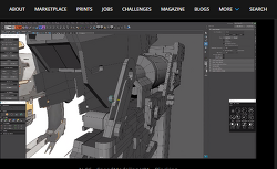 Maya를 이용한 총을 하드 서피스 모델링 영상