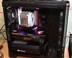 커세어 570X RGB 컴퓨터 케이스 i9-9980XE 시스템 만들기