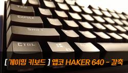 [앱코] HACKER K640 - 갈축