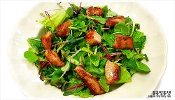 미세먼지에 좋은 돼지고기 항정살샐러드 만들기