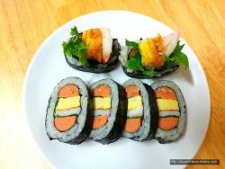 소풍 도시락에 쏙! '햄버거 김밥' 만들기