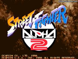 마메(MAME) - 스트리트 파이터 제로2 (Street Fighter Zero 2) / 스트리트 파이터 알파2 (Street Fighter Alpha 2)