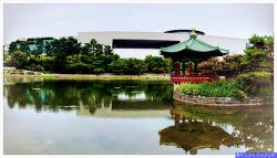 서울 산책하기 좋은 곳 국립중앙박물관 야외 석조물정원, 거울못 청자정