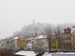자전거 세계여행 ~2510일차 : 얼어붙은 날의 슬로베니아, 류블랴나