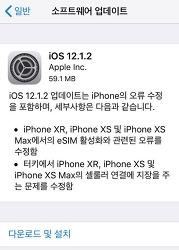 iOS 12.1.2 정식 버전 업데이트 방법 및 내용 정리