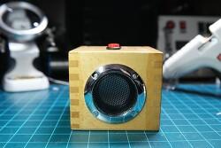 [DIY] 기탄 가베(?) 나무상자로 만든 블루투스 모노 스피커  - 그럴싸 한데 음질은 별로...