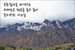 [중국 운남성]옥룡설산을 배경으로 위태로운 협곡을 달려 차마고도 중도객잔 가는길