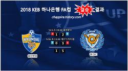 2018 KEB하나은행 FA컵 결승 결과, 대진,시간,장소