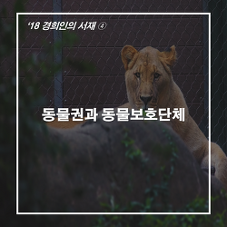 ['18경희인의 서재④] 동물권과 동물보호단체