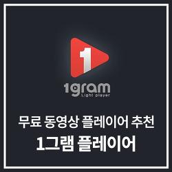 무료 동영상 플레이어 추천 - 1그램 플레이어