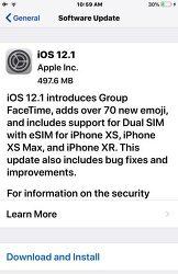 iOS 12.1 정식 버전 업데이트 방법 및 내용 정리