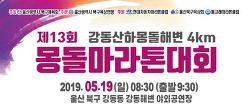2019 제13회 강동산하 몽돌해변 4km 몽돌마라톤대회 (2019-5-19(일))