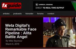 Weta Digital에서 Alita에 사용한  face pipeline 입니다.