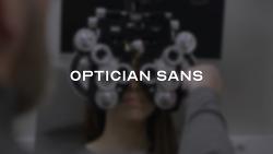 시력 검사표 문자기반 정교한 옵티시안 산스(Optician Sans) 폰트 무료 다운로드