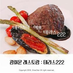 맛집RIVIEW : 테라스222 :: 광화문맛집, 성곡미술관 옆 분위기 좋은 레스토랑 : 데이트코스 추천