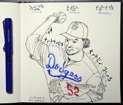 [자작그림] 페드로 바에즈 (Pedro Baez) - LA Dodgers