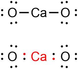 CaO 루이스 구조. CaO 루이스 전자점식