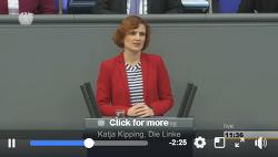 독일 카트야 키핑 하르츠 IV 법안 폐지 호소, 독일 의회 연설