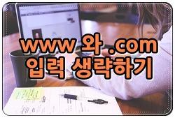 주소창에서 www와 .com 입력 생략하는 방법