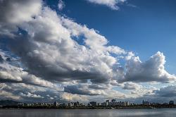 시월 한강 풍경