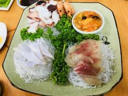 제주도 맛집) 해변여행횟집: 싱싱한 코스 회 요리