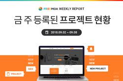 [Weekly Report] 9월1주차 등록된 프로젝트 현황