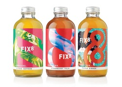 영국 음료 브랜드 FIX8 패키지 디자인