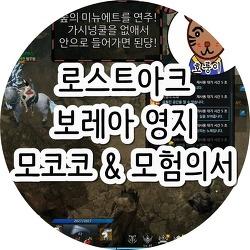 로스트아크 보레아 영지 모코코 & 모험의서 지도로 찾기!
