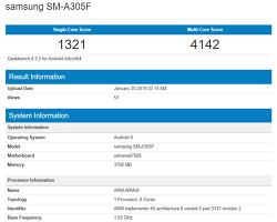 삼성 - 엑시노스 7885 및 4GB RAM을 탑재한 갤럭시 A30, GeekBench에 포착