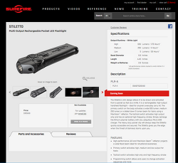SureFire New Products on webpage_Stiletto, DFT, E2DL Tactical