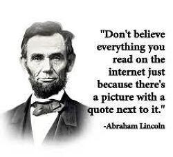 [직역/번역]Don't believe everything you read on the Internet just because there is a picture with a quote next to it.