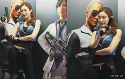 지스타 2017 모델 배틀그라운드 영상 사진 고독한 강월드 (G-STAR 2017 Battlegrounds model)